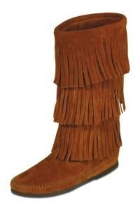 Moccasin Boots with Fringes for Women | Minnetonka Moccasin Women's 3-Layer Fringe Boot :: Duluth Pack :: Made ...