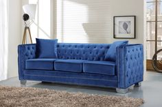 Looking for Meridian Furniture Reese Light Blue Velvet Sofa Light Blue ? Check out our picks for the Meridian Furniture Reese Light Blue Velvet Sofa Light Blue from the popular stores - all in one. Sofa And Loveseat Set, Light Blue Sofa, Velvet Sofa, Tufted Sofa, Meridian Furniture, Blue Velvet Sofa, Sofa Upholstery, Blue Velvet Loveseat, Modern Tufted Sofa