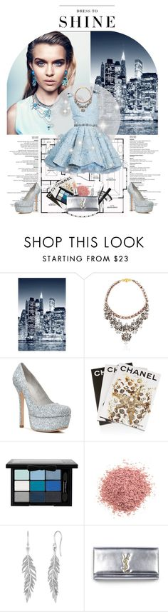 """Dress to shine"" by anne-mclayne ❤ liked on Polyvore featuring Wall Pops!, DANNIJO, Shourouk, Alice + Olivia, Assouline Publishing, NYX, Jouer, Pieces, Levi's and MAC Cosmetics"