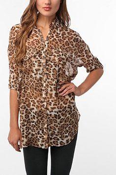 button down, leopard perfection.