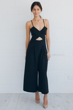 zara jumpsuit - black