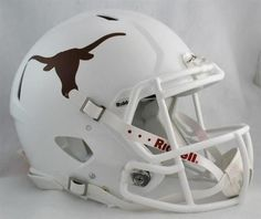 Longhorns Full Size Helmet. The Riddell's Revolution Speed football helmet has taken the football world by storm. With a distinctive,aggressive shell design, the Speed helmet is being adopted by premi