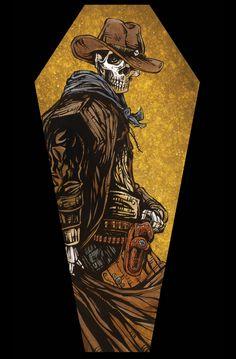 Day of the Dead Artist David Lozeau, Coffin Canvas Prints, Coffin Canvas Print Art, David Lozeau Dia de los Muertos Art - 2