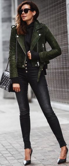 #trending #fall #outfits   Suede + Knit + Denim