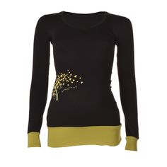 KICKER CLOTHING   Homegrown Long-Sleeved V-Neck Top in Black - Moms and Maternity - kinderelo.co.za