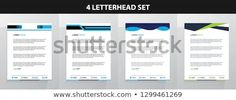 Letterhead Template Set Letterhead Design, Letterhead Template, Certificate Design, New Pictures, Land Scape, Royalty Free Photos, Announcement, Bar Chart, Create Yourself