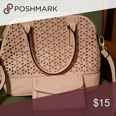 Bag ????Amazing deal, a wallet and bag????amazing light pink satchel also has the matching wallet. Bags Satchels