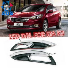 74.90$  Watch here - http://alish1.worldwells.pw/go.php?t=32763803305 - Factory direct sales Super bright LED DRL Daytime Running Lights for KIA K3 Forte Cerato 2013 2014 with fog lamp