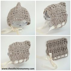 Pretty Shells Newborn Pixie Bonnet - Free Crochet Pattern | www.thestitchinmommy.com