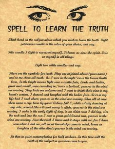 Spell to learn the truth