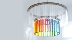 Maria S.C. chandelier by Polish designer Pani Jurek. It's named after Maria Sklodowska-Curie, the the deservedly world-famous female scientist. - how cool would this be in the homeschool room? ~h