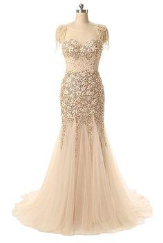 Queen's Bridal Women's Mermaid Beaded Cap Sleeve Sweetheart Evening Dress Formal Gown Long ** Buy now: http://amzn.to/2ioh6FR