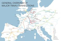 Map of train routes in Europe - Voyages-sncf.com