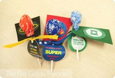 Superhero Valentine treats