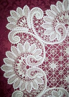 Bobbin lace from the Russian city of Elets. #Russian #lace