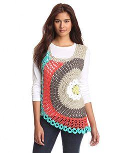 Pure Handknit Women's Artisan Crochet Tank, Ethical White, Medium