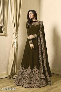 Buy Embroidered Georgette Abaya Style Suit in Dark Green online Item code Color Green Occasion Wedding Bollywood Theme Work Designer Dori Work Zari Fabric Georgette Gender Women Trajes Pakistani, Pakistani Dresses, Eid Dresses, Flapper Dresses, Pakistani Dress Design, Abaya Style, Indian Gowns, Indian Outfits, Indian Wedding Outfits
