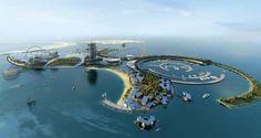 """Le projet de """"Resort Island"""" du Real Madrid devrait voir le jour sur l'île artificielle d'Al Marjan aux Emirats Arabes Unis."""