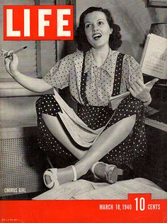 1940 Chorus Girl Original Life Magazine Cover Large Single Ad - Between 10 x 13…