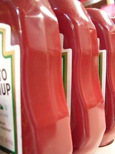 A few bottles of Ketchup