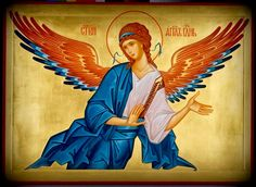 Byzantine Icons, Byzantine Art, Religious Paintings, Religious Art, Church Icon, Archangel Gabriel, Divine Light, Guardian Angels, Orthodox Icons