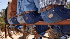 """Have you ever noticed the crispness of a cowboy or cowgirl's jeans? Or the line going down the center of their pant leg? It's from a process called """"starching"""" their jeans. Starching jeans helps denim to stay unwrinkled!"""