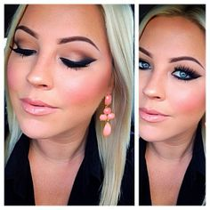 This would make a great Christmas or New Years makeup look