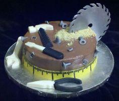 What every tool man needs for his Birthday Pretty Cakes, Cute Cakes, Fondant Cakes, Cupcake Cakes, Tool Box Cake, Dad Cake, Pastry Design, Cake Tutorial, Homemade Cakes