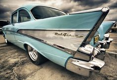 This used to be my all time favorite car.  1957 Chevy. Love the crome