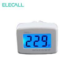 ELECALL Europlug DM55-1 AC 80-300V LCD Digital Voltage Meter With Bule Back Light Voltmeter #Affiliate