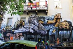 """""""No Land for the Poor"""" Athens Greece 2015 by WD Street Art Wild Drawing Murals Street Art, Street Art Utopia, Street Art News, Graffiti Wall Art, Street Art Graffiti, Mural Art, Famous Street Artists, Street Installation, Urbane Kunst"""