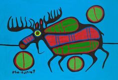 Nocturnal Reflection by Ojibwe Artist, Norval Morrisseau