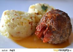špaček z mletého masa Czech Recipes, Ethnic Recipes, Tandoori Chicken, Cauliflower, Mashed Potatoes, Lunch, Beef, Treats, Vegetables