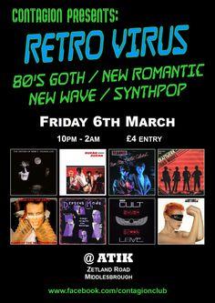 Contagion:Retro Virus @ Atik, Middlesbrough.