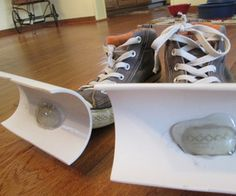 Snow Shovel Shoes! This is a REAL diy project from Instructables!