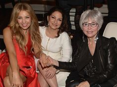 """From left,Thalia, Gloria Estefan and Rita Moreno attend the premiere screening of """"The Latin Explosion: A New America"""" on Nov. 10, 2015, in New York City.  Gustavo Caballero, Getty Images for HBO Latino"""