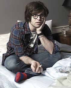 Ryan Adams. Disney and plaid and glasses and not looking like a five year old. But also looking adorable like a five year old. With a cigarette.