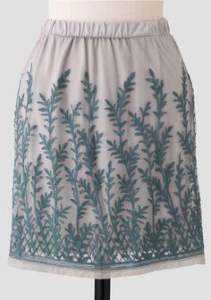 Paradise Garden Embroidered Skirt