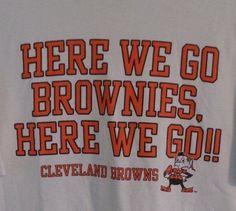 Cleveland Browns T Shirt - Here We Go Brownies - Short Sleeve - Reebok - Medium #Reebok #GraphicTee
