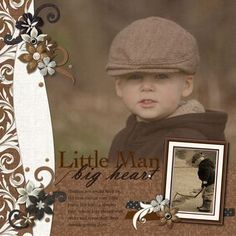 Little Man Big Heart Divine Digital #Scrapbooking Layout from Creative Memories    http://www.creativememories.com