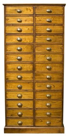 Lovely Black Wood Apothecary Cabinet