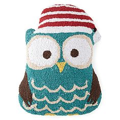 CHRISTMAS OWL!! <3 jcp | North Pole Trading Co. Hooked Shaped Owl Decorative Pillow