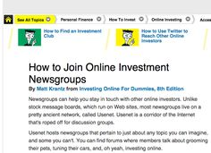Joining Online Newsgroup