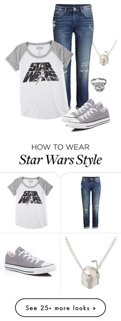 """""""Star Wars VII!!!! -Hannah"""" by isongirls on Polyvore featuring H&M, Hybrid and Converse"""