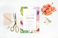 Bridal shower invitation, tropical bridal shower, printable bridal invitation, hawaiian floral Wedding Shower invite, Pink Bridal Shower by blushprintables on Etsy https://www.etsy.com/listing/276553792/bridal-shower-invitation-tropical-bridal