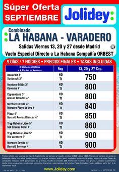 Súper Oferta Septiembre - Cuba Combinado Hav-Vra desde 750€ Tax incl. Salida 13,20 y 27 Sep - http://zocotours.com/super-oferta-septiembre-cuba-combinado-hav-vra-desde-750e-tax-incl-salida-1320-y-27-sep/