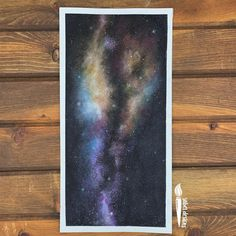 My Milky Way rendition. Check my boards for video process of my paintings. Watercolor Galaxy, Galaxy Painting, Watercolor Paintings, Watercolour, Space Painting, Painting Process, Oil Pastel Art, Milky Way, Constellations