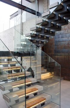 House Boz | Staircase | M Square Lifestyle Design #Design #Stairs #Interior #Contemporary #Concrete #Steel