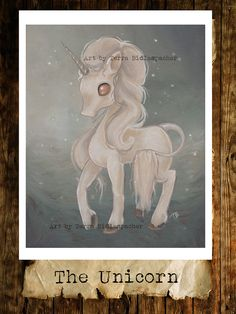 UNICORN fantasy art print - fairy gothic lowbrow