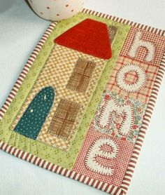 Another version of the House and Home design included in the Patchsmith's Special Days pattern collection.